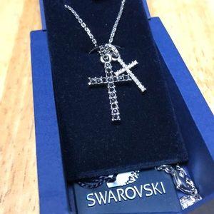 Swarovski Double-Cross necklace